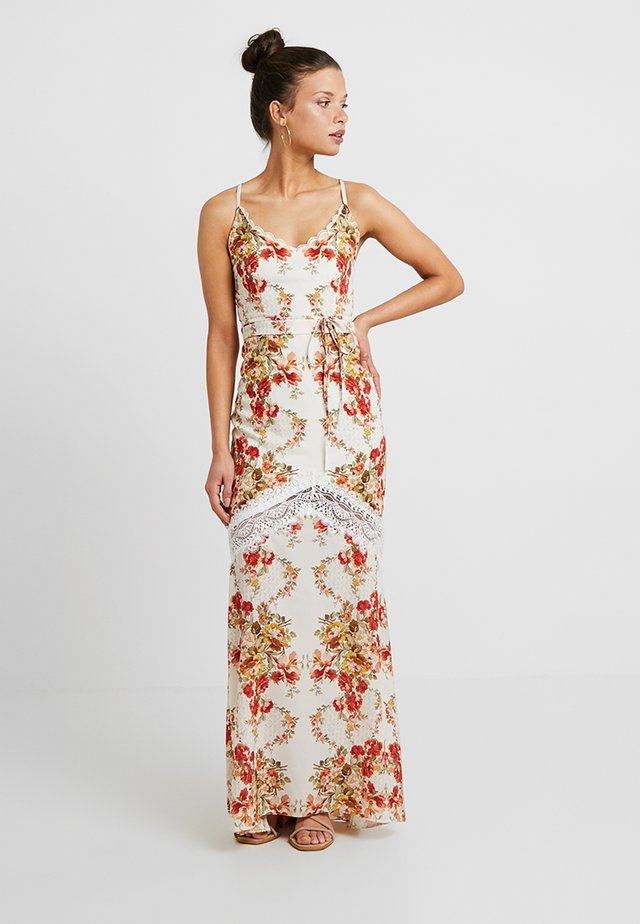 UP BACK MAXI WITHTRIM - Maxi dress - cream