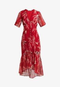 Hope & Ivy Petite - BUTTON FRONT DROP HEM MIDI DRESS - Day dress - red - 5