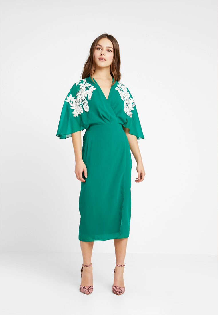 Hope & Ivy Petite - MIDI WRAP DRESS - Occasion wear - green