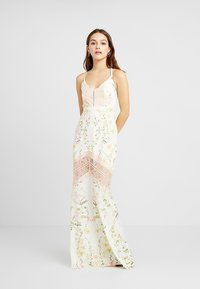 Hope & Ivy Petite - FLORAL FISH TAIL WITH CROCHET TRIM - Maxi šaty - offwhite - 2
