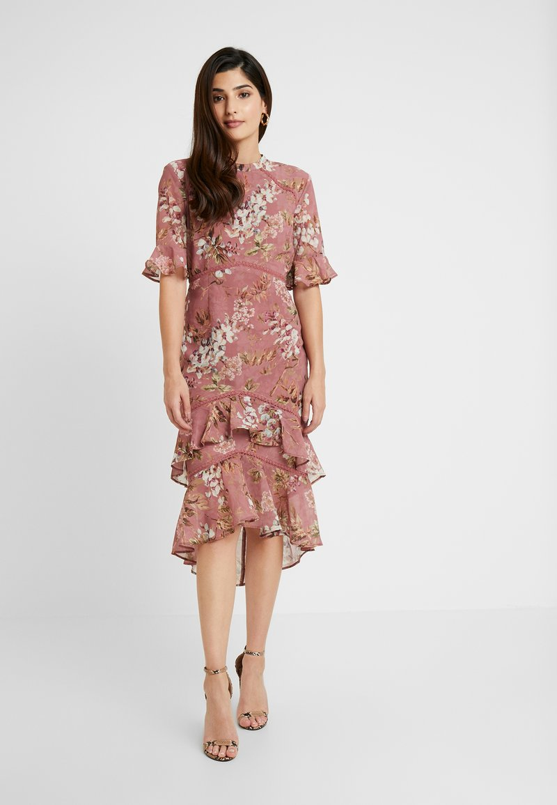 Hope & Ivy Petite - FLUTED SLEEVE MIDI DRESS - Cocktail dress / Party dress - lilac