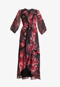 Hope & Ivy Petite - WRAP MAXI DRESS WITH TRIM DETAILS - Abito da sera - anthrazit/red - 6