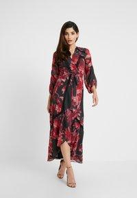 Hope & Ivy Petite - WRAP MAXI DRESS WITH TRIM DETAILS - Abito da sera - anthrazit/red - 2