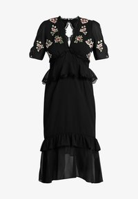 Hope & Ivy Petite - PEPLUM WAIST MIDI DRESS WITH  - Cocktail dress / Party dress - black - 5