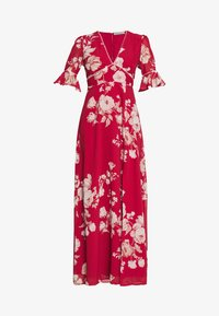 Hope & Ivy Petite - FLUTED SLEEVE OPEN BACK MAXI - Vestido largo - red - 5