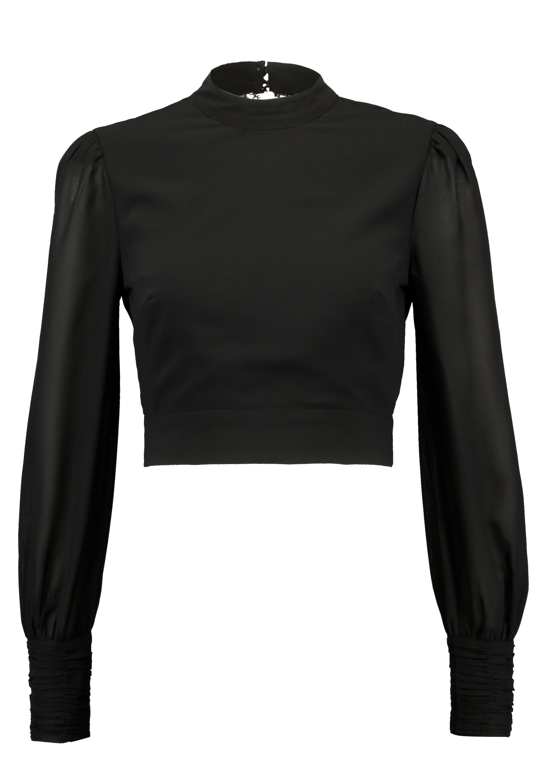 Hope & Ivy Petite High Neck Blouse - Black