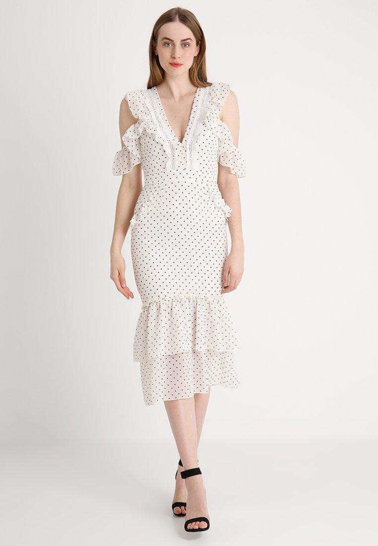 Hope & Ivy Tall - POLKA TEA DRESS - Maxi dress - white