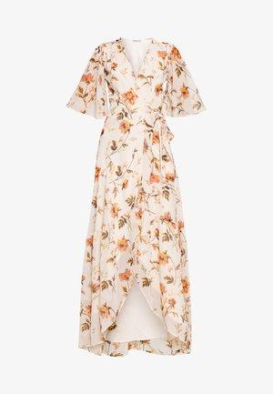 Maxi šaty - offwhite/orange