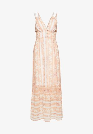 Vestido largo - offwhite/orange