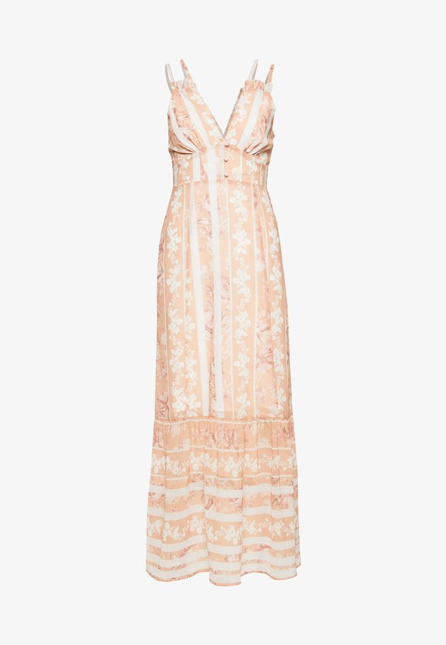 Robe longue - offwhite/orange