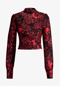 Hope & Ivy Tall - BLACK TOPTALL - Blouse - black/red - 4