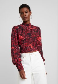 Hope & Ivy Tall - BLACK TOPTALL - Blouse - black/red - 0