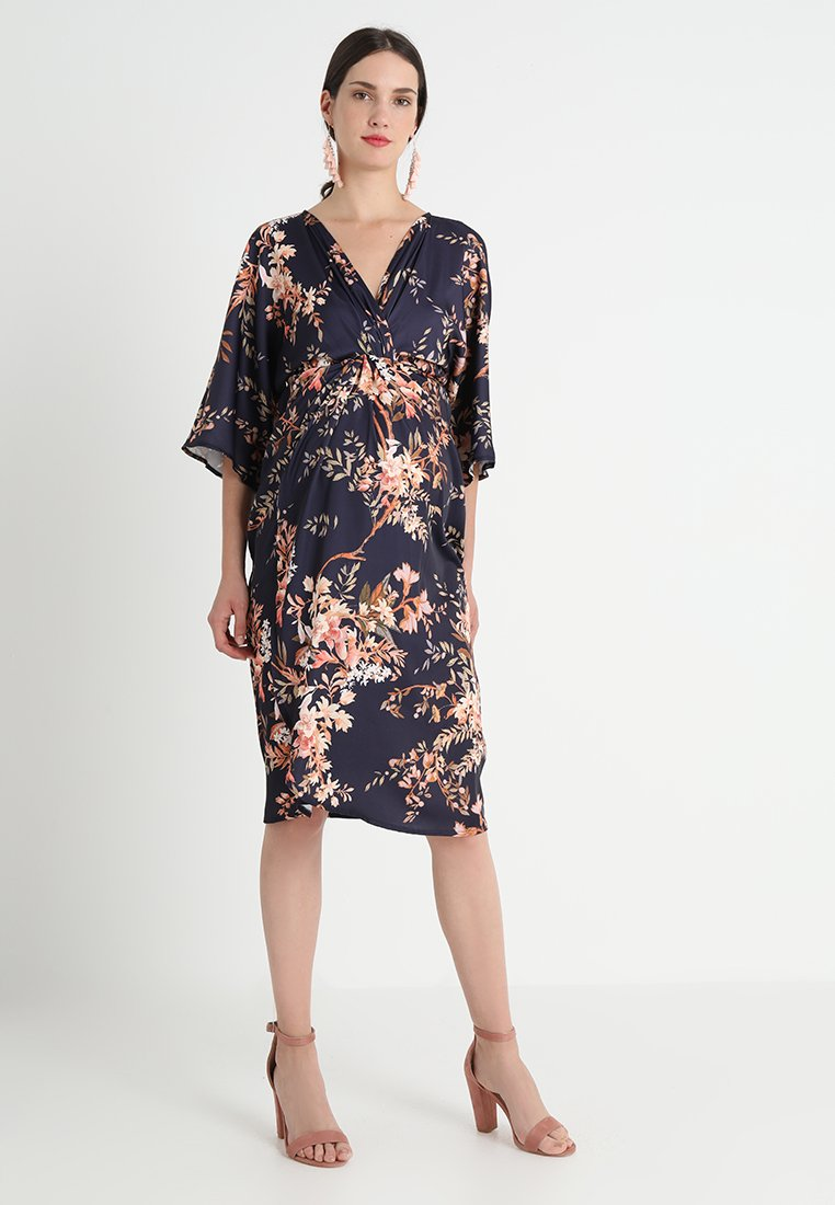 Hope & Ivy Maternity - KIMONO DRESS - Vestido informal - navy