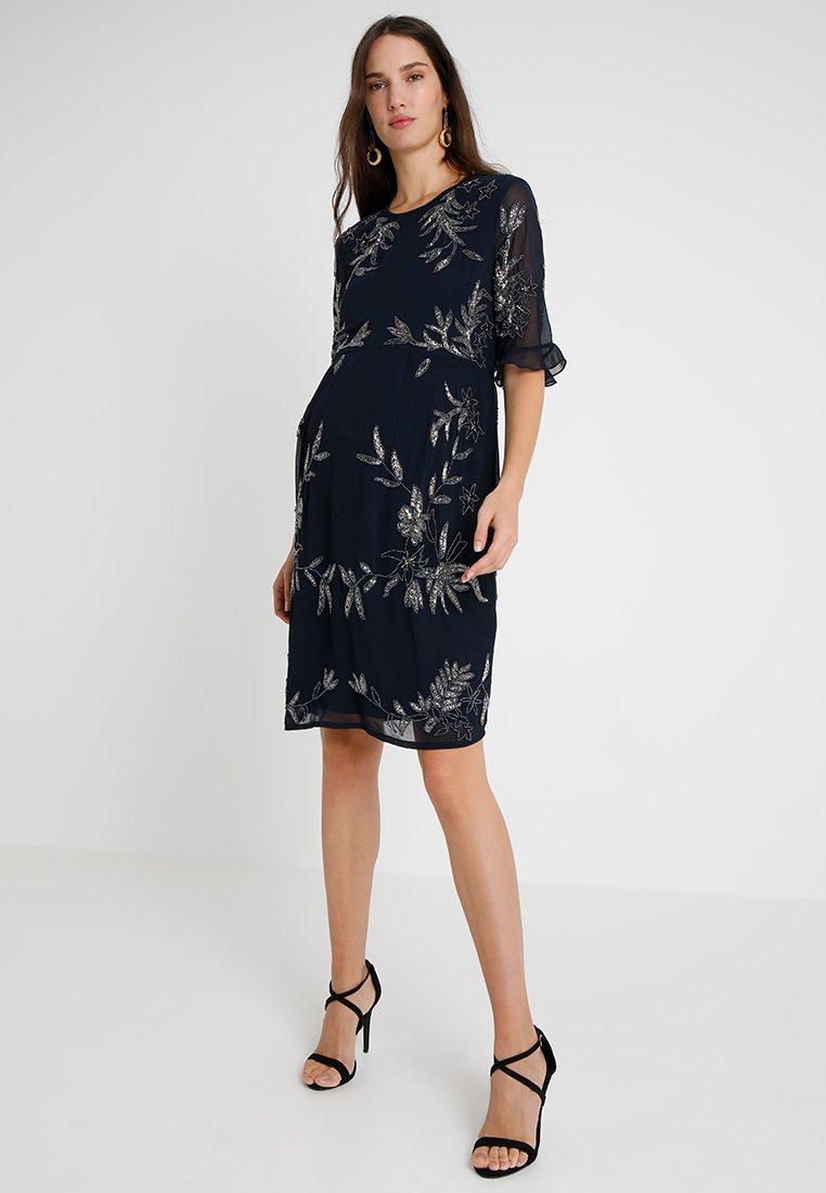 Hope & Ivy Maternity - EMBELLISHED SEQUIN DRESS - Vestido de cóctel - navy