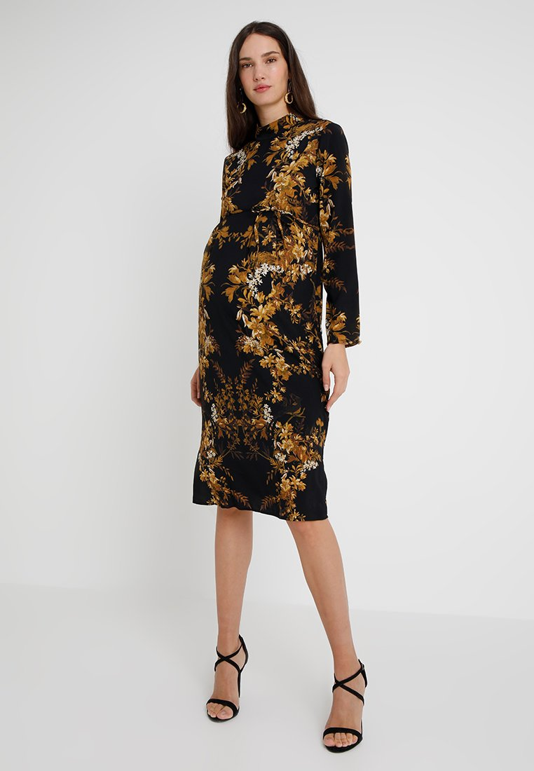 Hope & Ivy Maternity - MIRROR PRINT PENCIL DRESS - Vapaa-ajan mekko - black