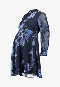Hope & Ivy Maternity - BLOUSON SLEEVE SKATER DRESS WITH BOW BACK - Cocktail dress / Party dress - navy blue - 5