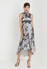 Hope & Ivy Maternity - HIGH NECK SKATER WITH TRIM - Maxi dress - grey - 1