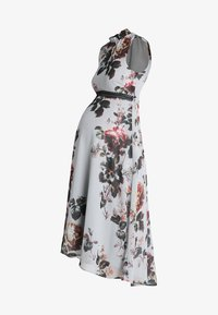 Hope & Ivy Maternity - HIGH NECK SKATER WITH TRIM - Maxi dress - grey - 4