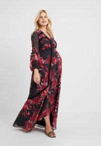 Hope & Ivy Maternity - WRAP MAXI DRESS WITH TRIM DETAILS - Hverdagskjoler - red - 1