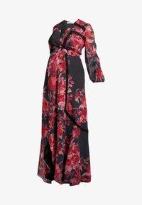 Hope & Ivy Maternity - WRAP MAXI DRESS WITH TRIM DETAILS - Hverdagskjoler - red - 4