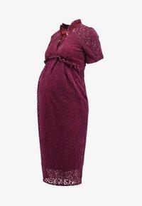 Hope & Ivy Maternity - PEPLUM DRESS WITH TRIMS - Shirt dress - bordeux - 6