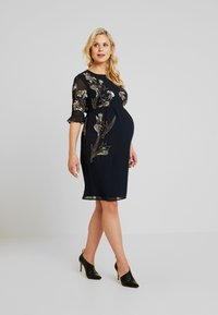 Hope & Ivy Maternity - EMBELISHED MINI DRESS WITH FLUTED SLEEVE - Cocktail dress / Party dress - dark blue - 1