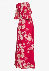 Hope & Ivy Maternity - OPEN BACK SPLIT FRONT DRESS - Maxi dress - red - 1