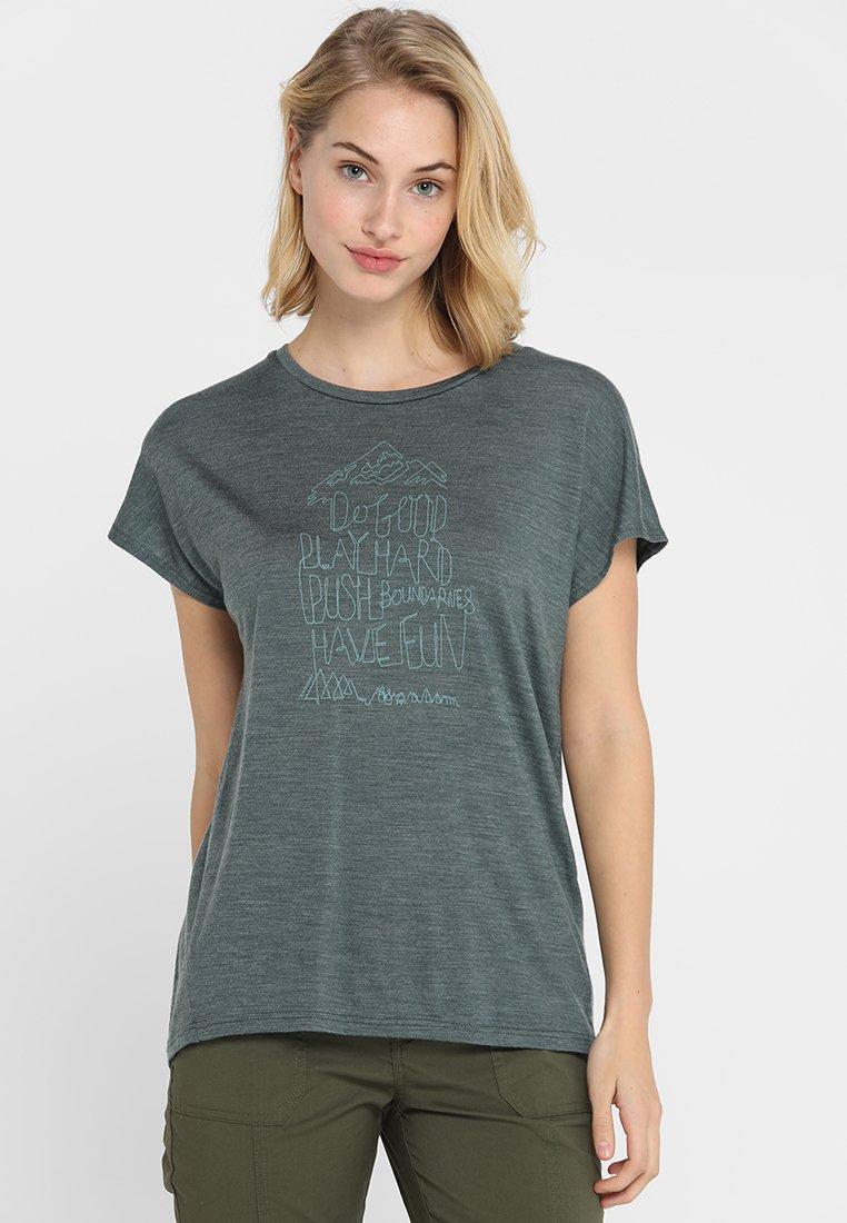Houdini - ACTIVIST MESSAGE TEE - T-shirt imprimé - deeper green/dogood