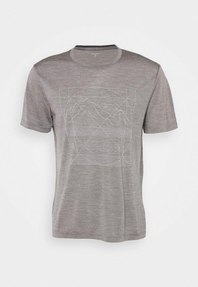 ACTIVIST MESSAGE TEE - T-shirt con stampa - soft grey