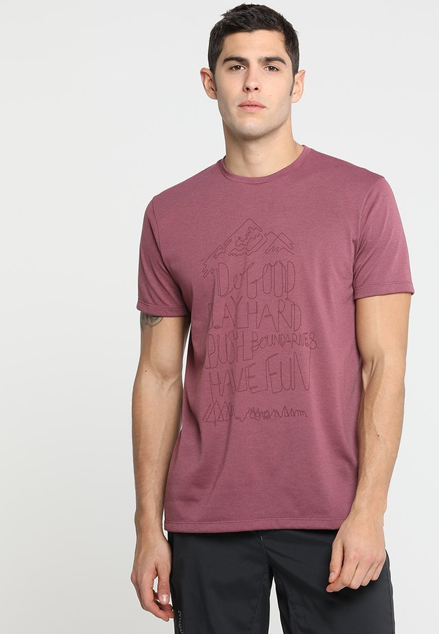 BIG UP MESSAGE TEE - T-shirt con stampa - raspberry rush red