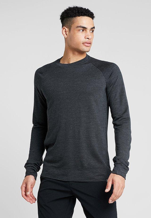 CAMPUS CREW - Maglietta a manica lunga - true black