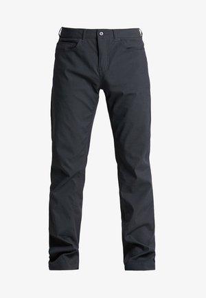 WAY TO GO PANTS - Spodnie materiałowe - rock black