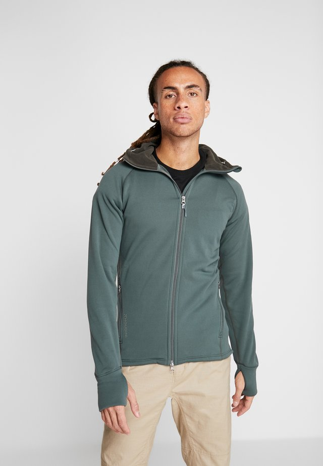POWER HOUDI - Fleece jacket - deeper green