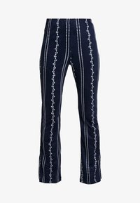 Honey Punch - PATTERN ELASTIC WAIST PANTS - Bukse - navy