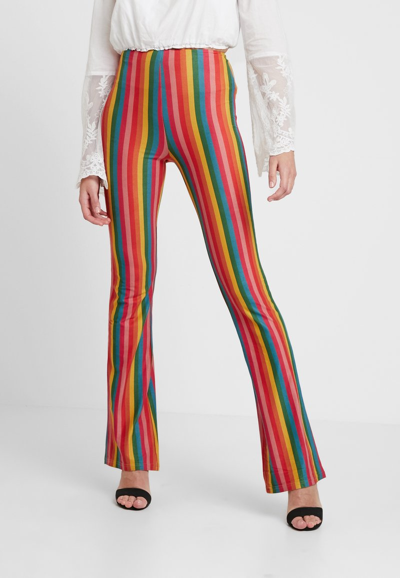 Honey Punch - STRIPE PANT - Stoffhose - colorful multi