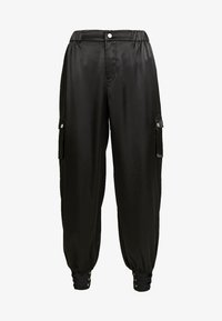 Honey Punch - PANTS WITH CARGO POCKET DETAIL - Trousers - black - 3