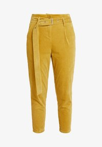 Honey Punch - CROPPED PANT WITH SELF BELT DETAIL - Bukser - mustard - 5