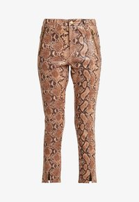 Honey Punch - PANT WITH ZIPPER POCKET AND SLIT FRONT DETAIL - Spodnie materiałowe - tan - 4
