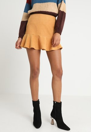 FLIP SKIRT - Minisukně - yellow