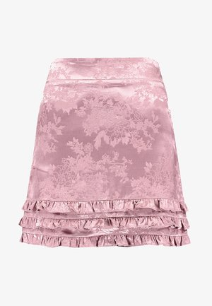 TONAL RUFFLE HEM SKIRT - Mini skirt - dusty pink