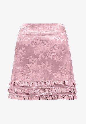 TONAL RUFFLE HEM SKIRT - Minikjol - dusty pink