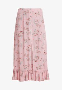 Honey Punch - PATTERNED SKIRT WITH BUTTON DETAIL AND FRONT SLIT - Maxi skirt - mauve - 3