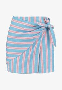 Honey Punch - PATTERNED WRAP SKIRT - A-line skirt - light blue multi - 3