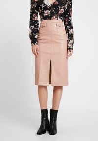 Honey Punch - FRONT SLIT PENCIL SKIRT - Pencil skirt - rose - 0