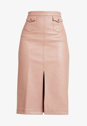FRONT SLIT PENCIL SKIRT - Kynähame - rose