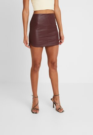 SKIRT - Mini skirt - burgundy