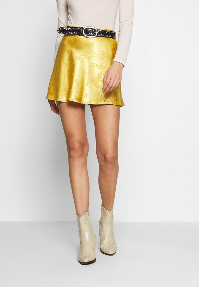 CIRCL - Spódnica trapezowa - gold