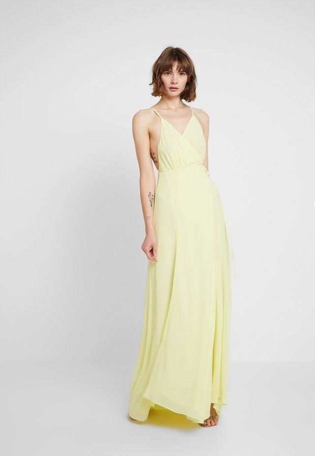 SOLID WRAP DRESS - Maxikleid - light yellow