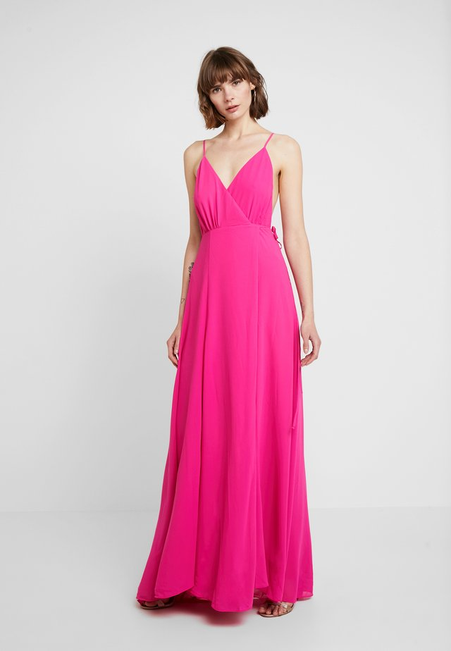 SOLID WRAP DRESS - Długa sukienka - pink