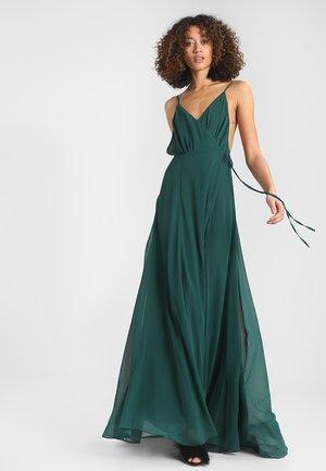SOLID WRAP DRESS - Maxikjoler - emerald